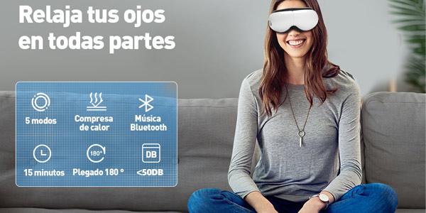 Masajeador digital ocular Meilen con función calor y conexión Bluetooth barato en Amazon
