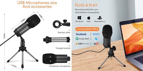 Mini Micrófono PC Vormor con conexión USB chollo en Amazon