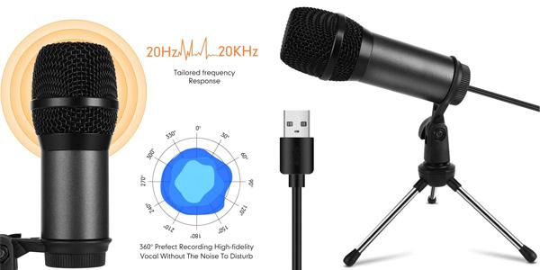 Mini Micrófono PC Vormor con conexión USB barato en Amazon