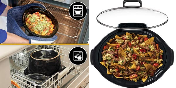 Olla de cocción lenta digital Crock-Pot CSC059X para preparar todo tipo de recetas de 3.5 litros chollo en Amazon