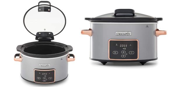 Olla de cocción lenta digital Crock-Pot CSC059X para preparar todo tipo de recetas de 3.5 litros barata en Amazon