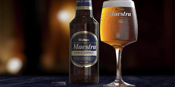 Pack x24 Mahou Maestra Doble Lúpulo Cerveza Lager Tostada botella de 330 ml chollo en Amazon