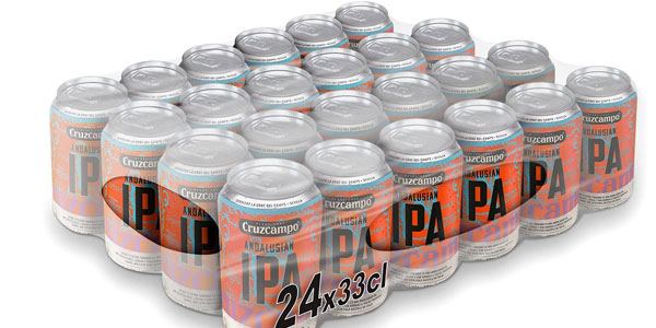 Pack x24 Cerveza Cruzcampo Ipa Andalusian de 330 ml barato en Amazon