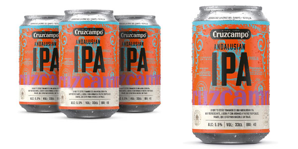 Pack x24 Cerveza Cruzcampo Ipa Andalusian de 330 ml chollo en Amazon