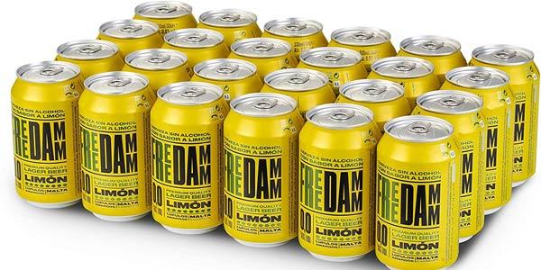 Pack x48 Free Damm Cerveza Limón de 330 ml barato en Amazon