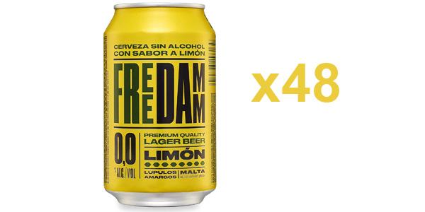 Pack x48 Free Damm Cerveza Limón de 330 ml chollo en Amazon