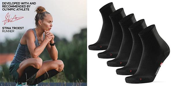Pack x5 pares calcetines unisex Danish Endurance Quarter Pro baratos en Amazon