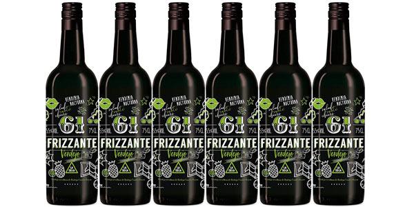 Pack x6 botellas vino 61 Frizzante Verdejo de Bodega Cuatro Rayas de 750 ml barato en Amazon