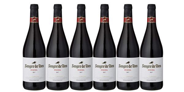Pack x6 botellas Vino Sangre De Toro Tinto Crianza D.O. Cataluña de 750 ml barato en Amazon