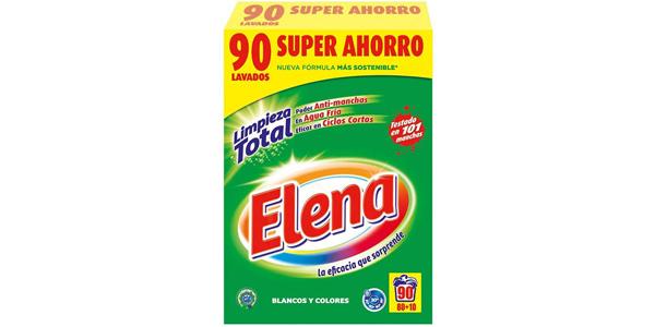 Paquete x90 Dosis Detergente en polvo Elena a máquina para ropa blanca y de color barato en Amazon