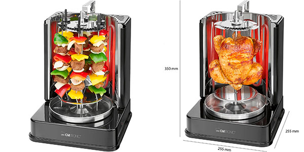 Parrilla eléctrica Clatronic DVG 3686 de 1400 W para kebabs barata