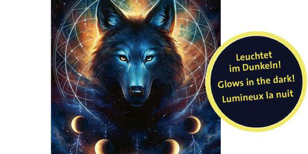 Puzle Lobo de 500 piezas que brilla en la oscuridad Ravensburger Star Line barato en Amazon