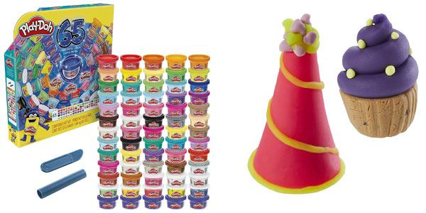 Set x65 botes de plastilina Play-Doh 65 Celebration (Hasbro F15285L1) barato en Amazon