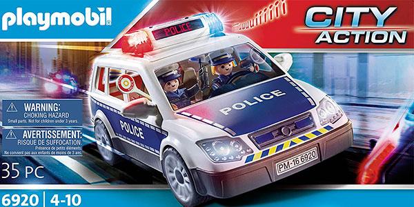 Set Coche de Policía con luz y sonido de Playmobil con 2 figuras barato