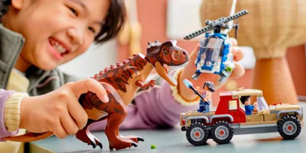 Set Persecución del Dinosaurio Carnotaurus de LEGO Jurassic World barato
