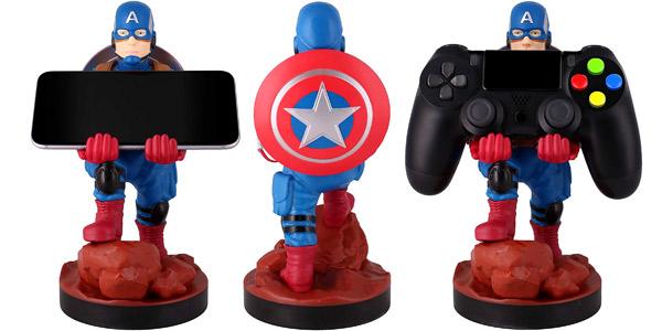 Soporte de sujeción y carga para mandos de consola o smartphone Cable Guy Capitán América barato en Amazon