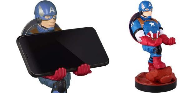 Soporte de sujeción y carga para mandos de consola o smartphone Cable Guy Capitán América chollo en Amazon