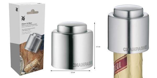 Tapón para botellas Clever & More de WMF en acero inoxidable pulido barato en Amazon