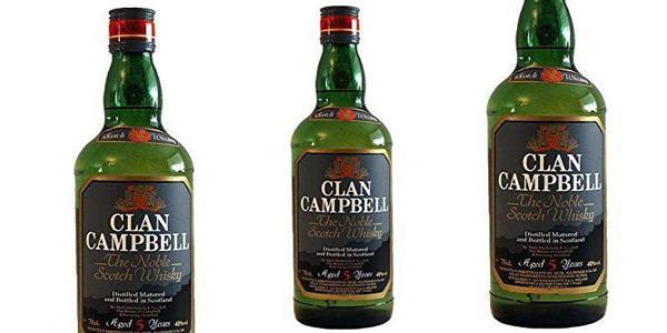 Whisky de mezcla Clan Campbell de 1000 ml barato en Amazon