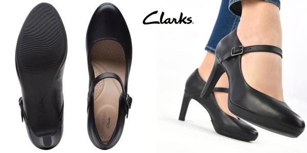 Zapatos de tacón Clarks Ambyr Shine para mujer chollo en Amazon